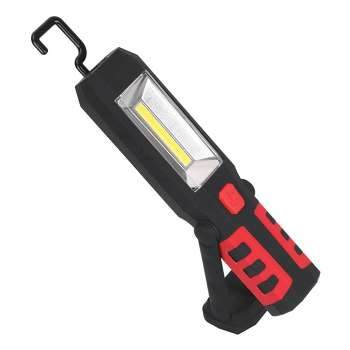 COB LED Magnetic Car Working Light Rechargeable Emergency Flashlight (Red)