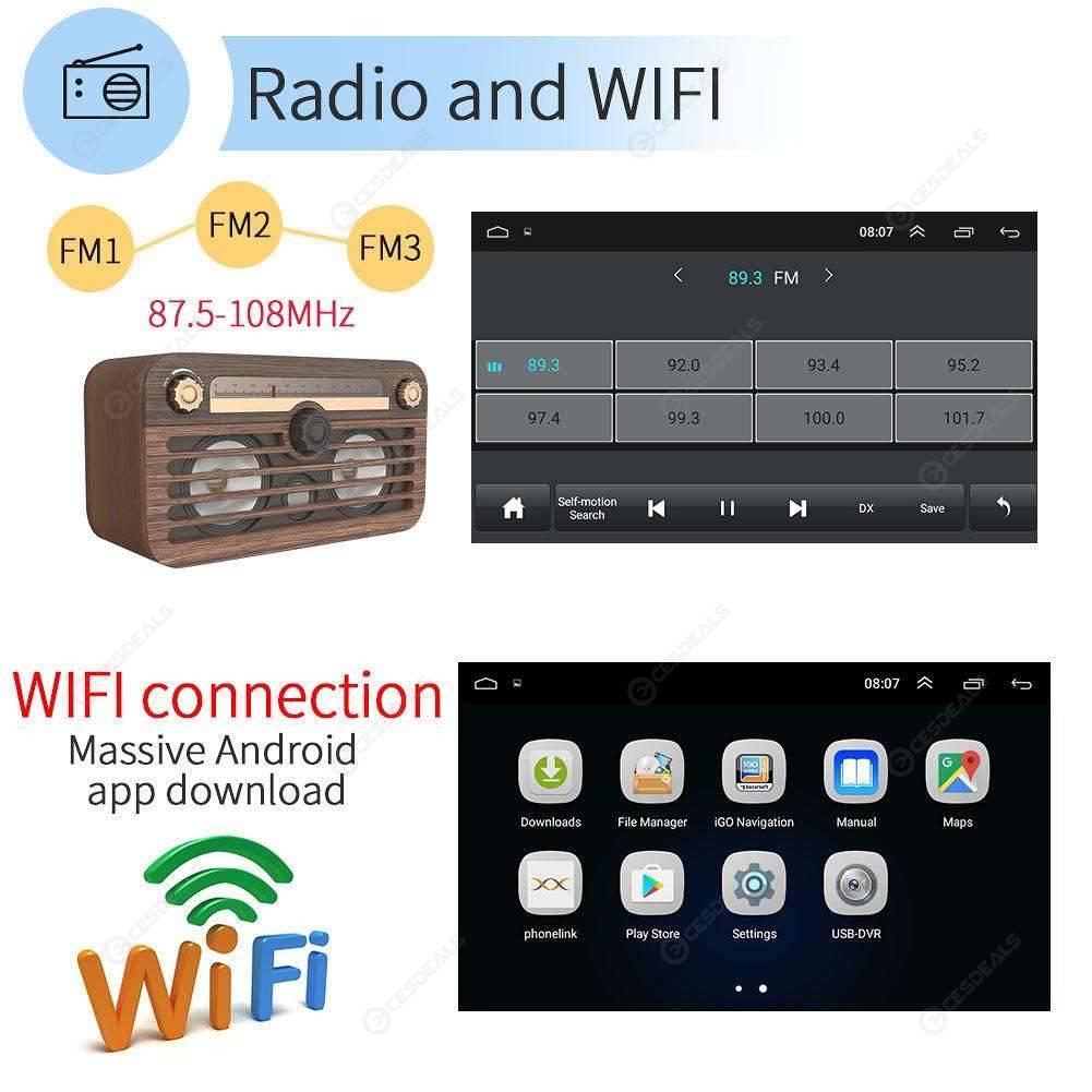 SWM 7018 7 inch Android 8 1 Car MP5 Player GPS Navi Radio WiFi BT (No Cam)