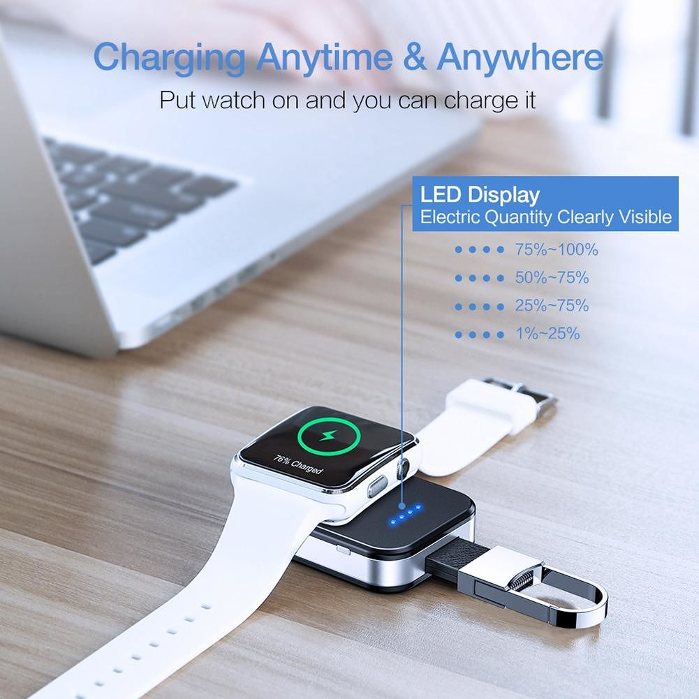 RAXFLY Wireless Charger Power Bank 950mAh for Apple Watch Series 1 2 3 4