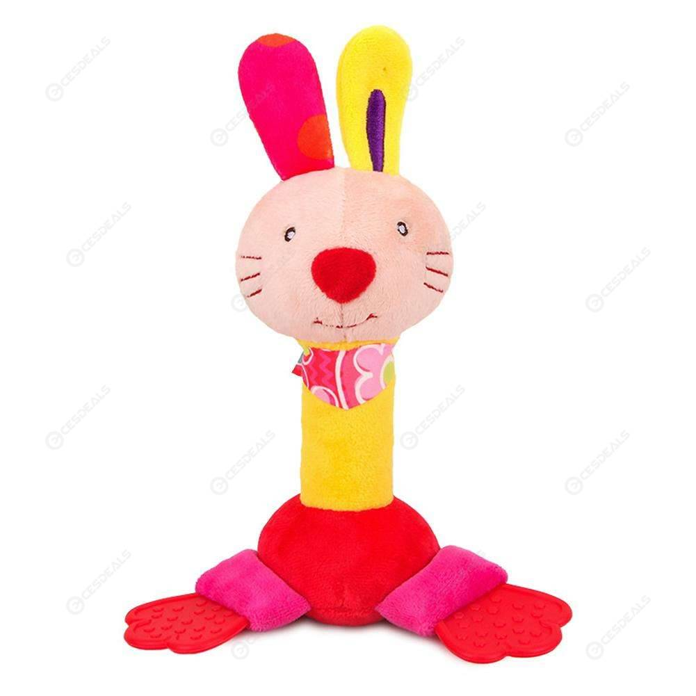 Baby Cartoon Animal Squeeze BB Sound Rattle Kids Bell ...