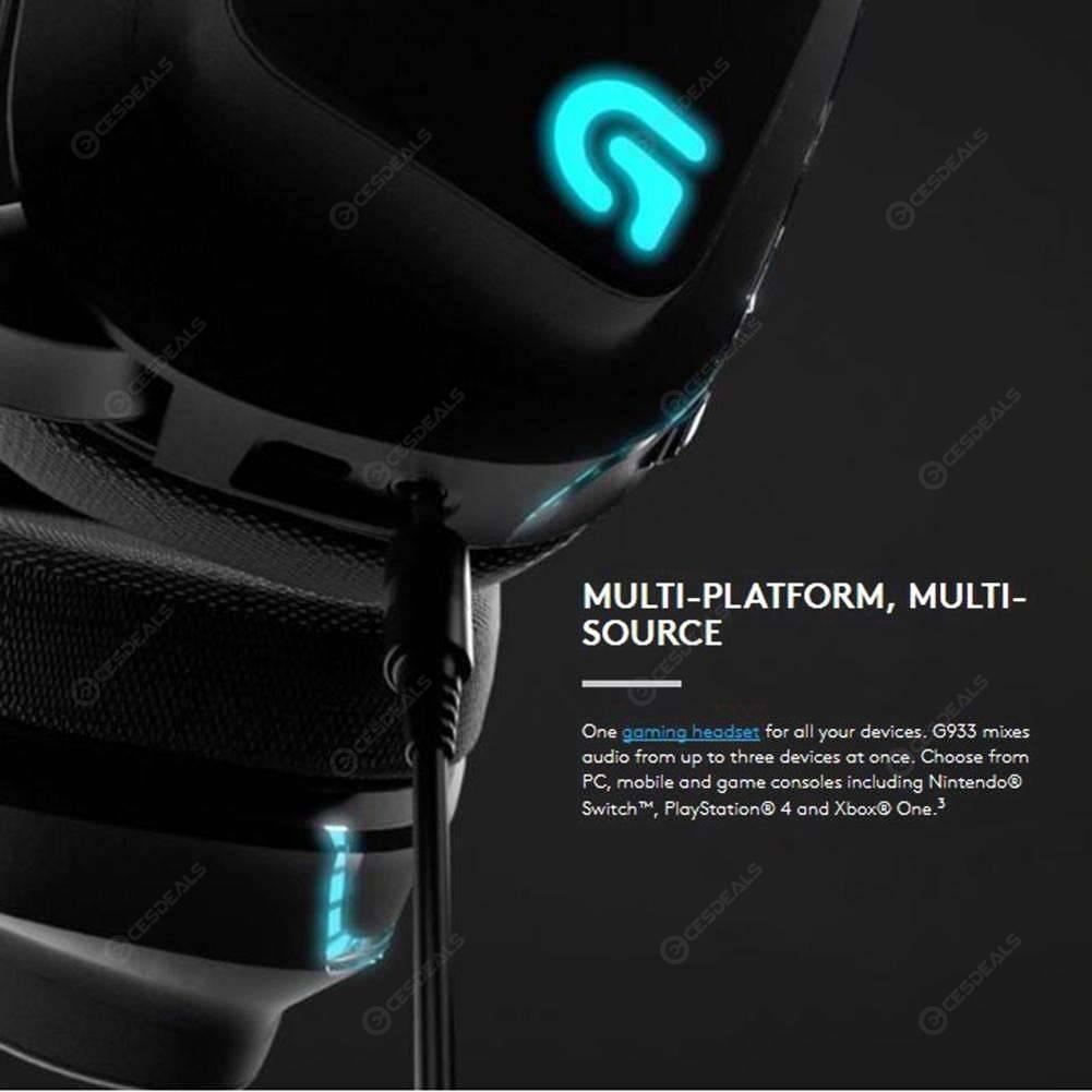 Logitech G933 Wireless RGB Headphone X 7 1 Surround Sound Gaming Headset