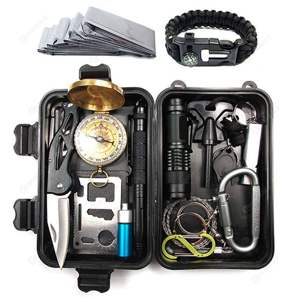 A15 Travel Outdoor Survival Kit Set 15 in 1 First Aid SOS Emergency Tools