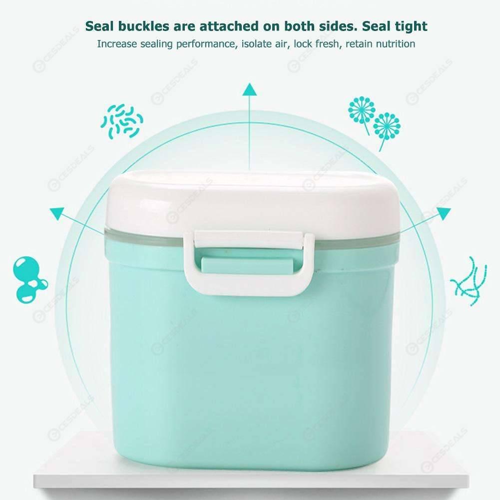 Baby Milk Powder Box Infants Milk Dispenser Food Sealed Storage Box (Green)
