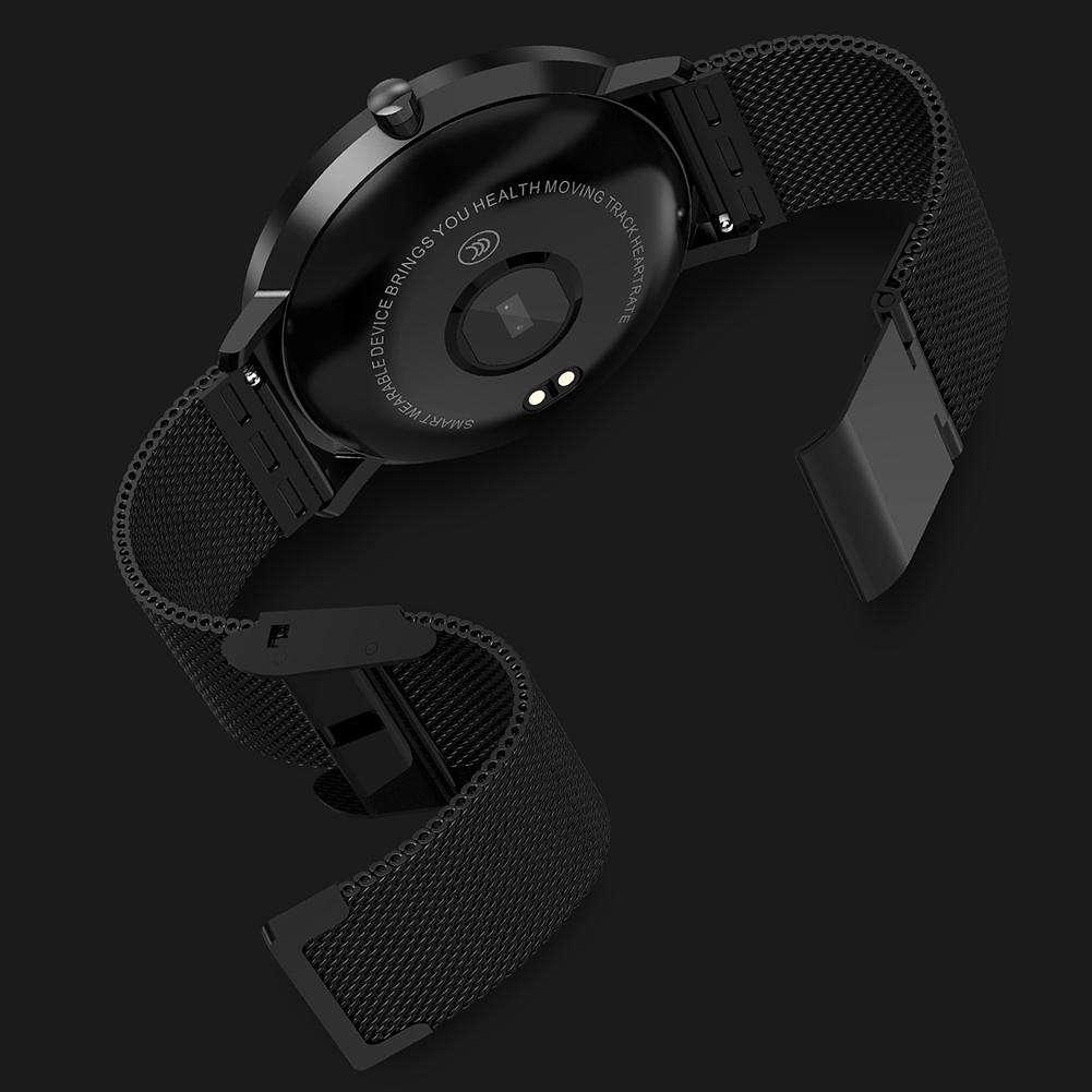 L6 Touch Screen IP68 Waterproof Dynamic Heart Rate Smartwatch (Black)
