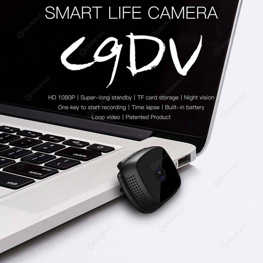 C9 HD Small Camera Motion Detection 1080P Wireless WiFi Smart Wearable DVR