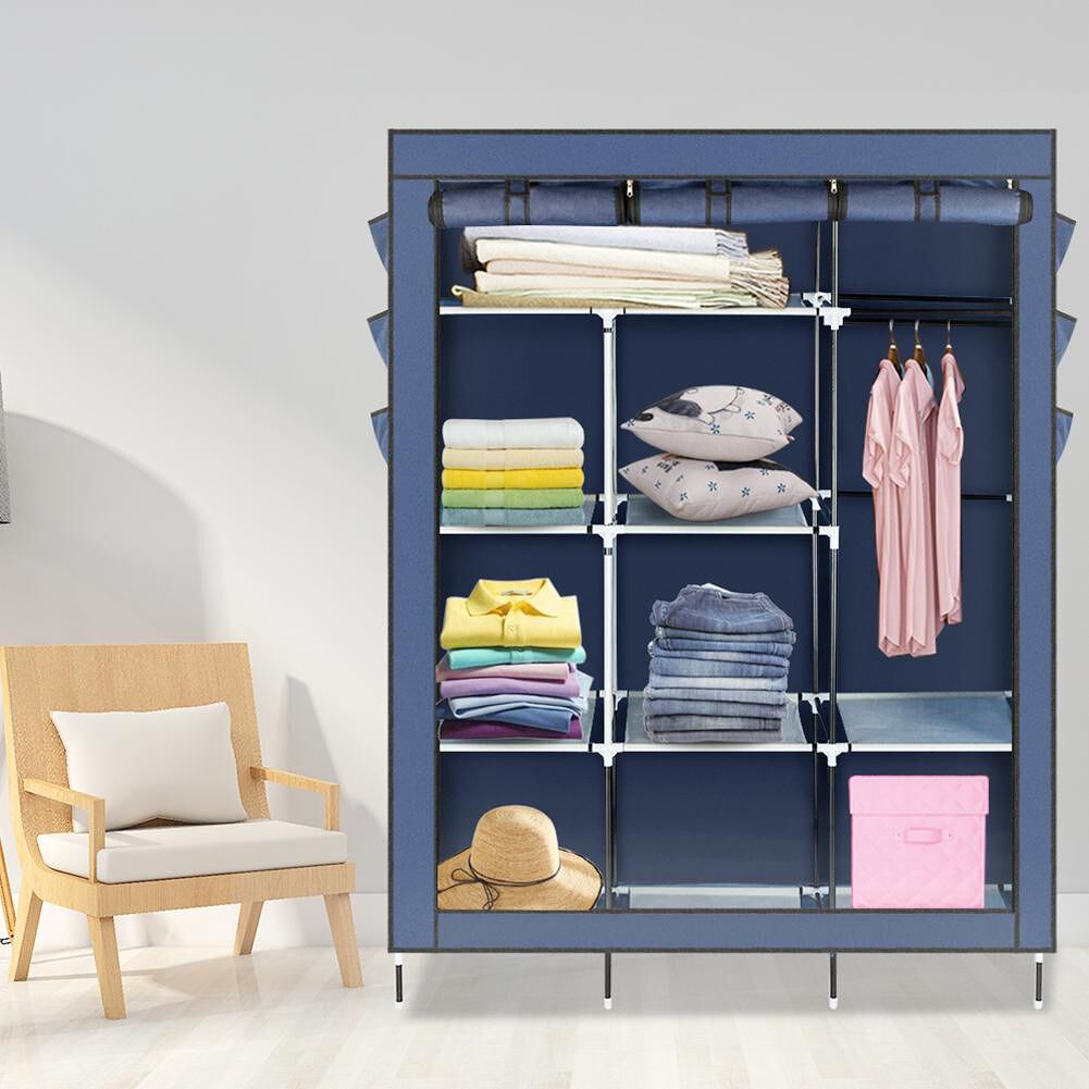 Non-woven Fabric Assembled Cloth Wardrobe Portable Storage Clothes Cabinet
