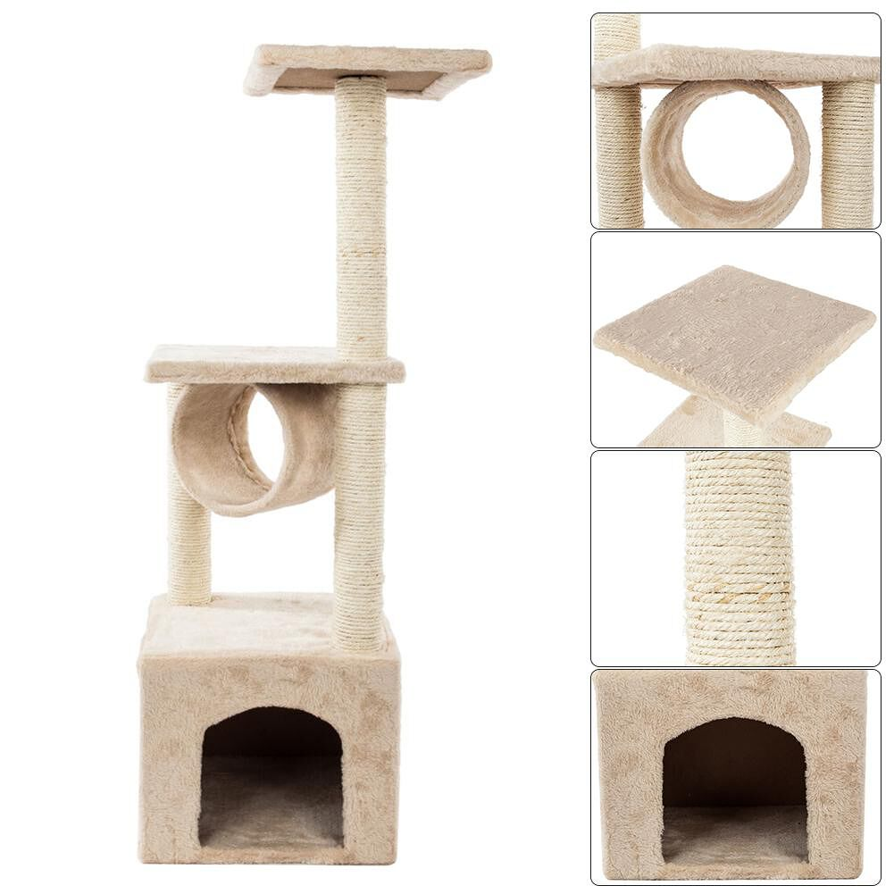 36 inch Solid Cute Sisal Rope Plush Cat Climb Trees Cat Toy Pet Cats Tower