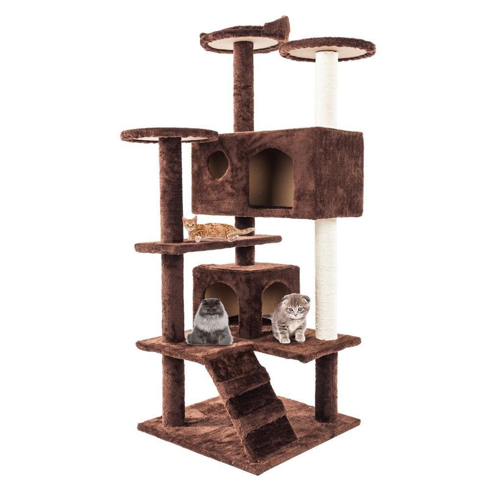 Cat Kitten Scratching Post Cat Climb Trees Cat Toy Pet Jumping Frame Tower