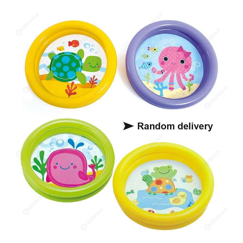 Portable Baby Inflatable Swimming Pool Cartoon Round Basin Water Bathtub