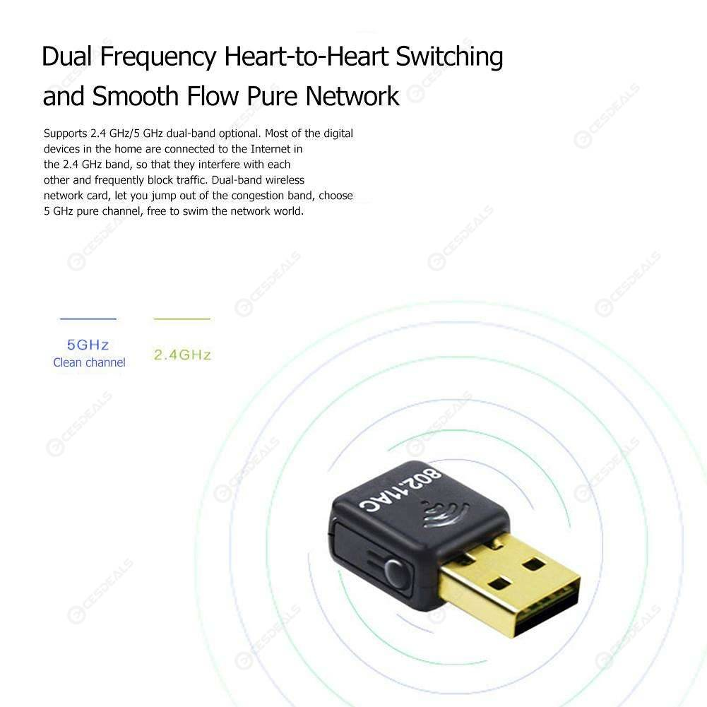 M-1200V USB 3 0 WiFi Adapter 1200Mbps 2 4GHz/5 8GHz Wireless Network Card