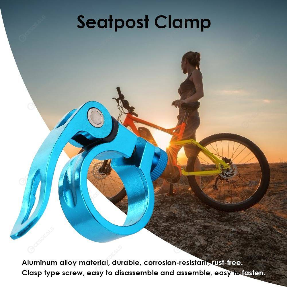 31.8mm Cycling Aluminum MTB Bike Bicycle Seatpost Clamp Quick Release Seat Post