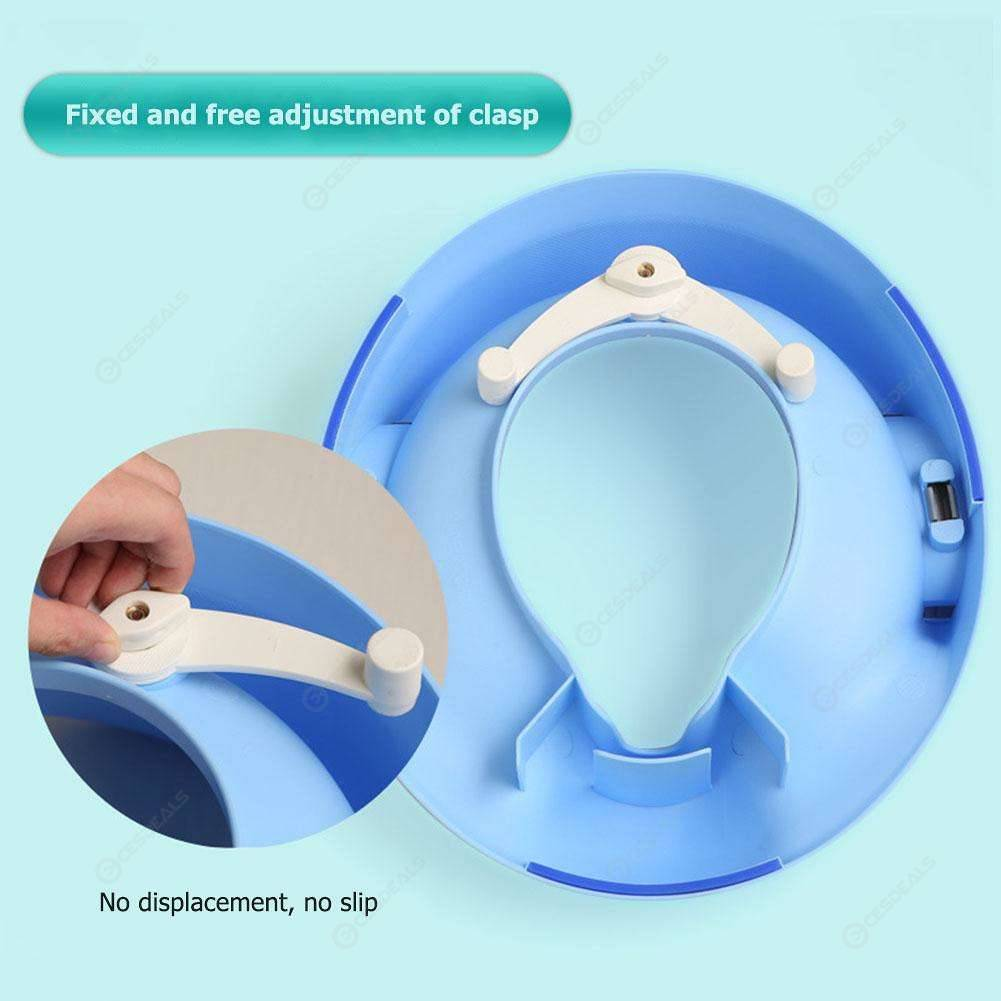Baby Potty Toilet Training Seat Portable Toilet Ring with Armrest (Blue)