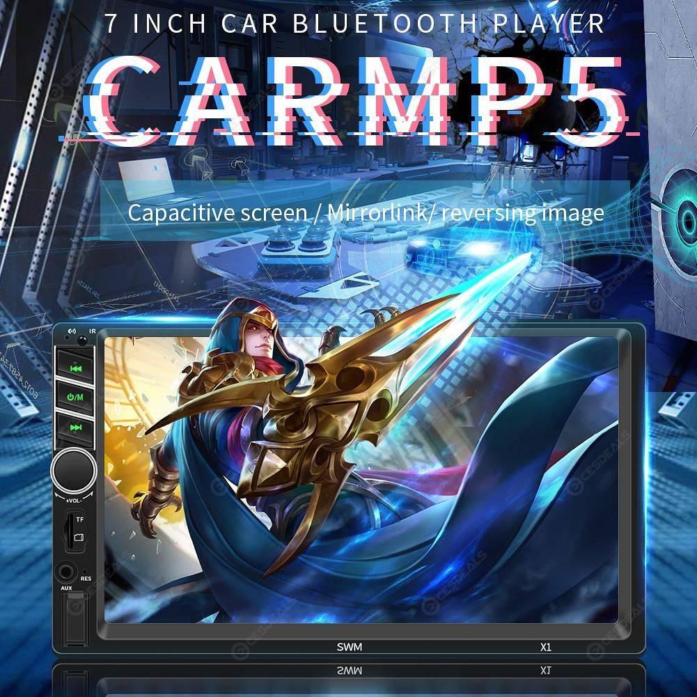SWM X1 Car MP5 Player FM Radio BT AUX USB w/ Xiaomi Remote Control (w/ Cam)