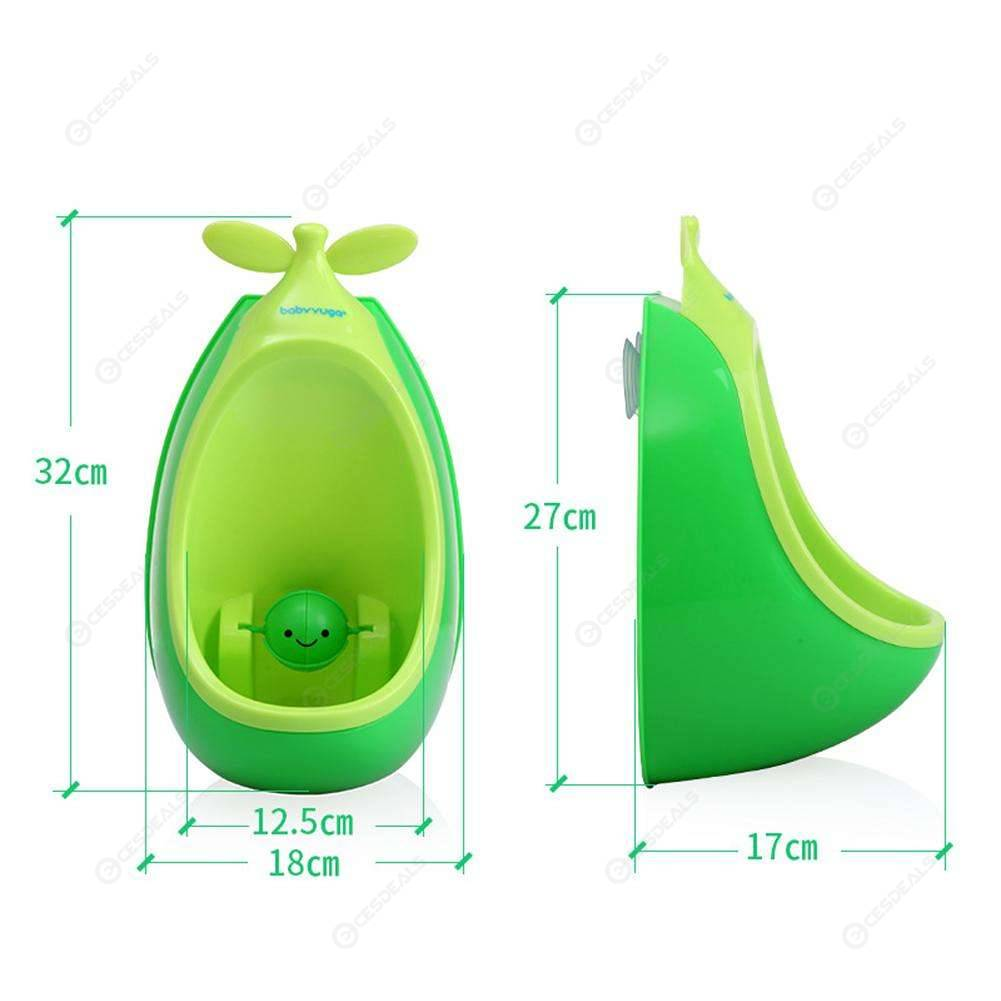 Pea Shaped Potty Wall-Mounted Toilet Baby Boys Pee Trainer Urinal (Green)