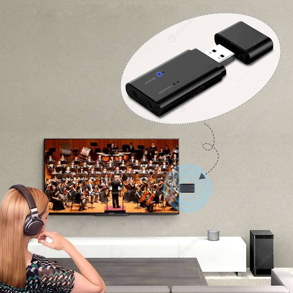 USB Wireless Stereo Bluetooth Audio Receiver Transmitter 3.5mm Car Adapter