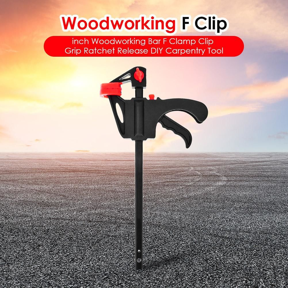 4 inch Woodworking Bar F Clamp Clip Grip Release DIY Carpentry Tool (10pcs)