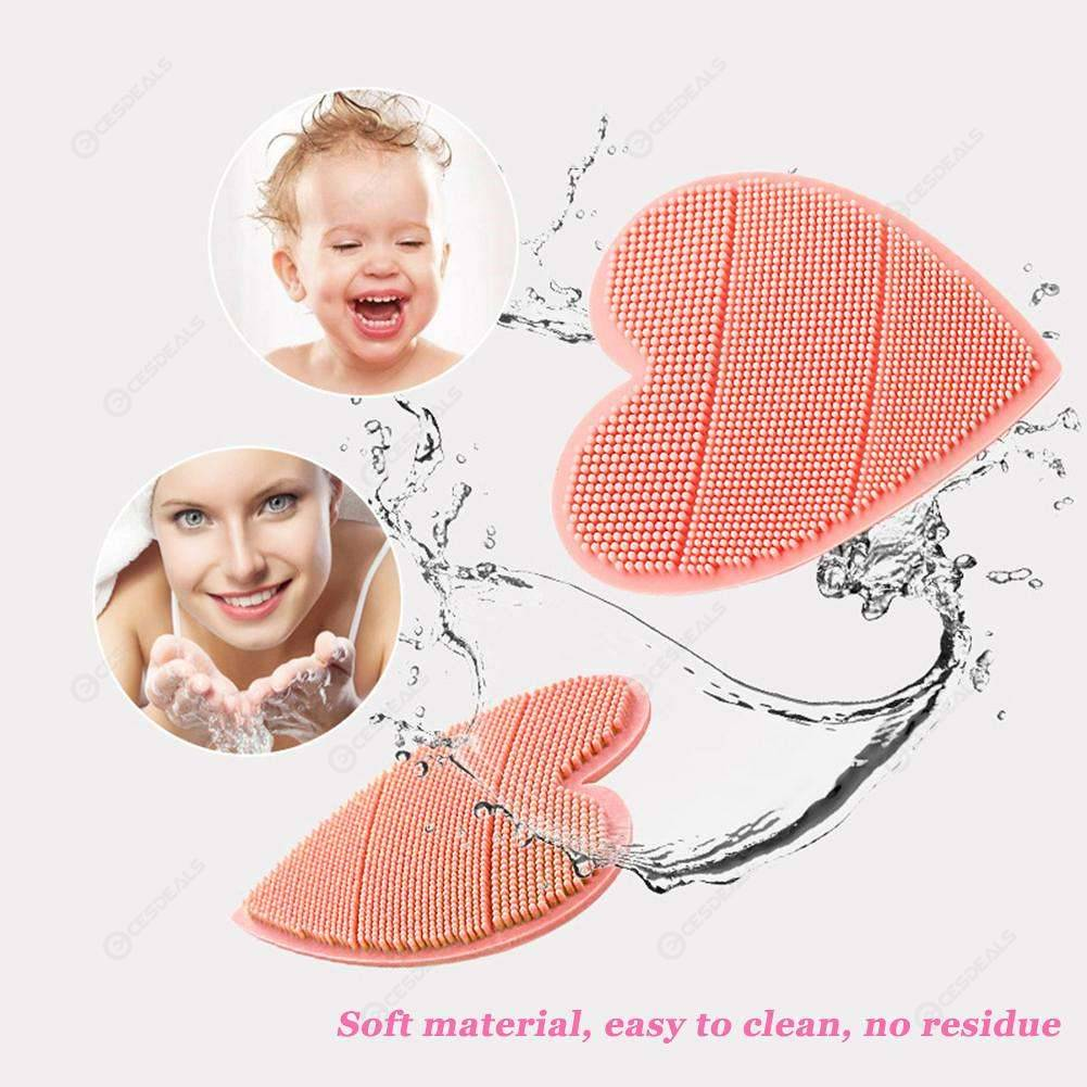 Baby Bath Brushes Wash Pad Silicone Shower Shampoo Brush Facial Cleansing