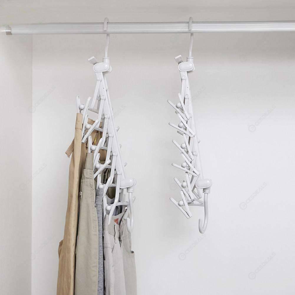 Space Saving Hanger Magic Clothes Hanger with Hook Closet Organizer Rack