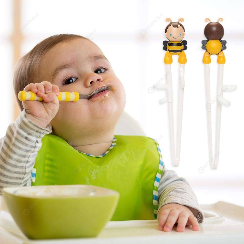 Training Chopsticks Children Learning Baby Stainless Steel Dinnerware (A)