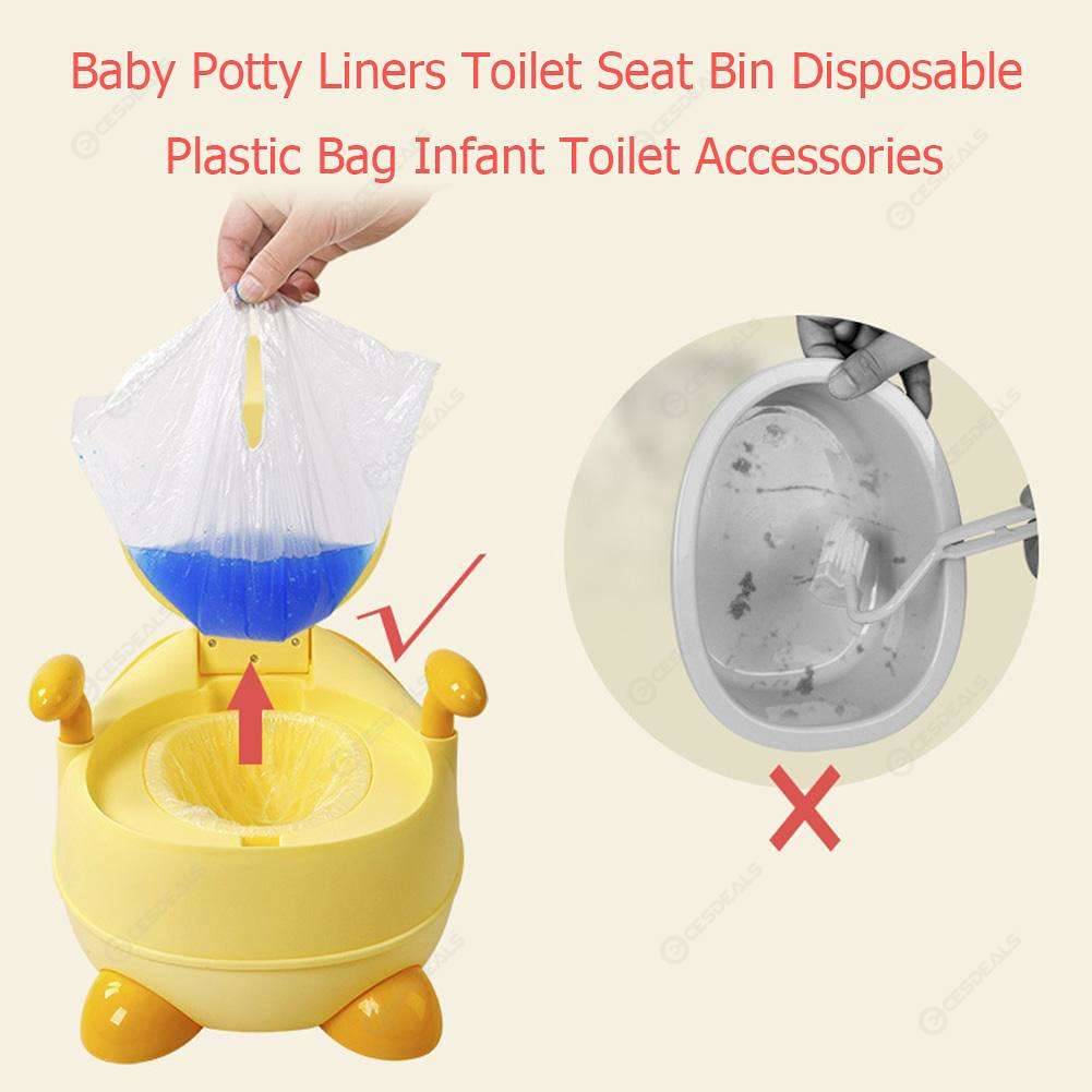 100pcs Universal Baby Potty Liners Toilet Seat Bin Disposable Plastic Bag
