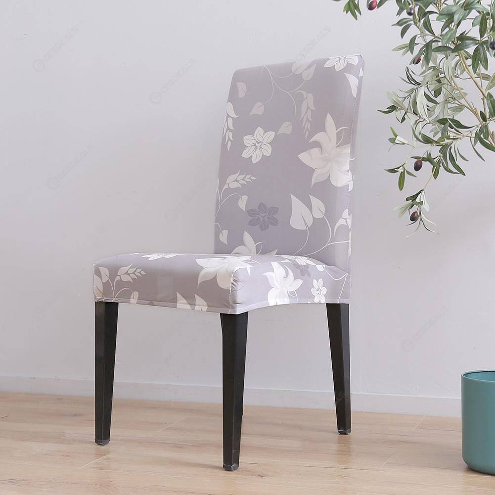 Warm Flowers Digital Print Elastic Chair Cover Stretch Seat Slipcover (1pc)