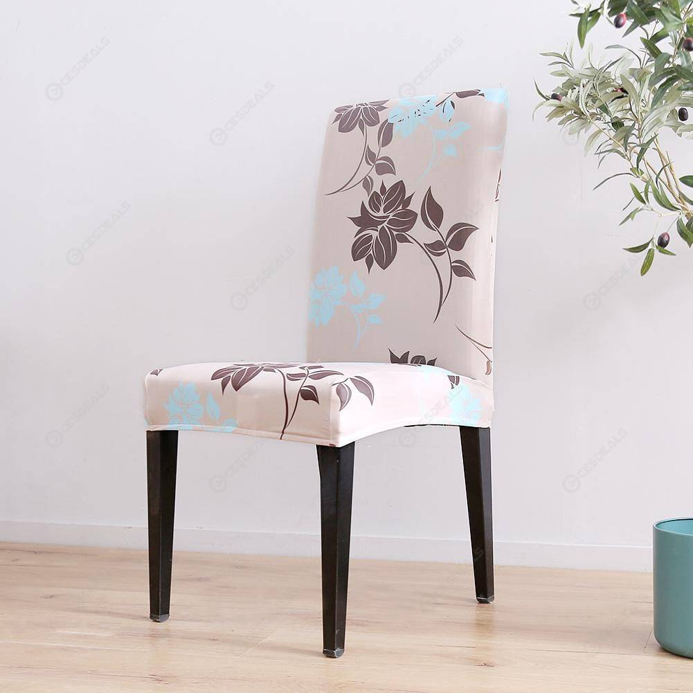 Leaves Flowers Print Chair Cover Stretch Seat Protector Slipcovers (1pc)