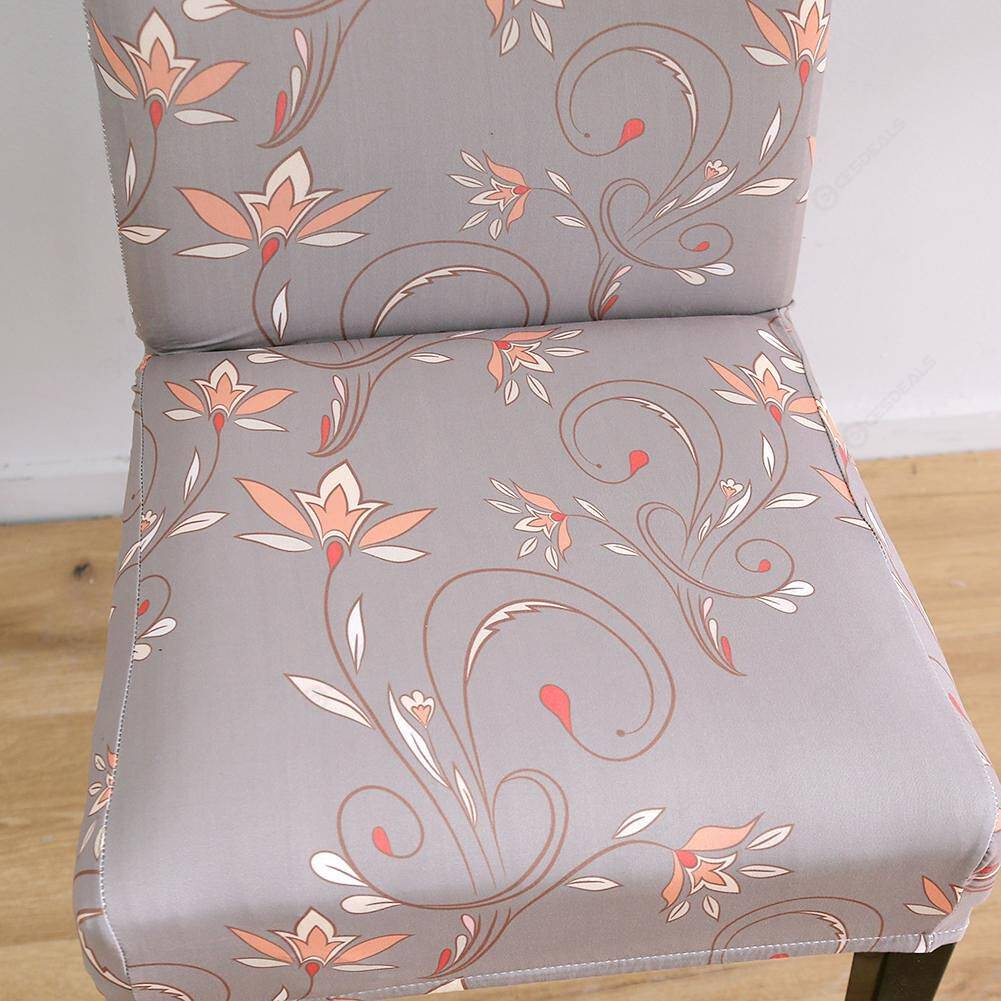 Digital Printed Chair Cover All-inclusive Elastic Chair Slipcovers (1pc)