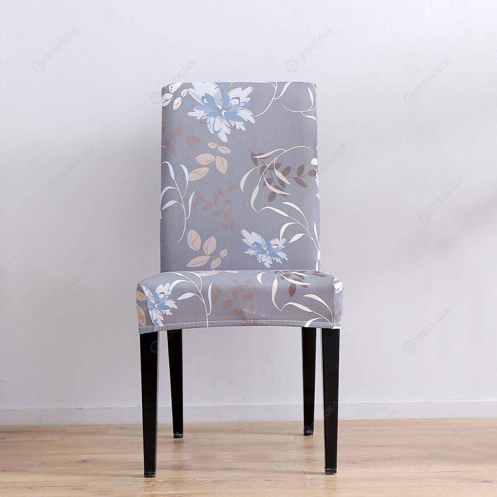 Digital Print Thin Chair Cover All-inclusive Elastic Chair Slipcover (1pc)