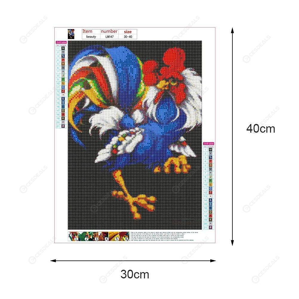 5D DIY Full Drill Diamond Painting Cartoon Chicken Cross Stitch Embroidery