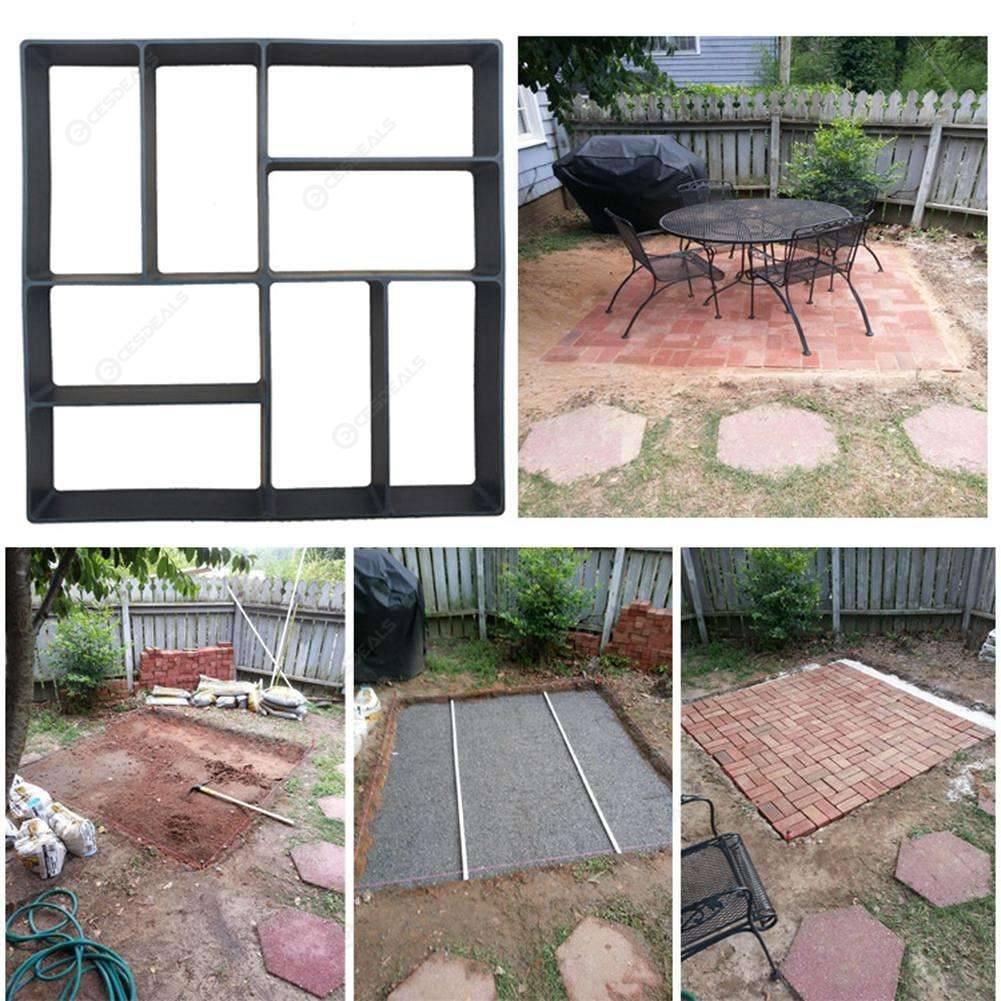 Reusable Path Floor Mould DIY Path Maker Lawn Garden Paving Concrete Mold Solid