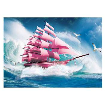 5D DIY Full Drill Diamond Painting Sailing Ship Cross Stitch Embroidery Kit