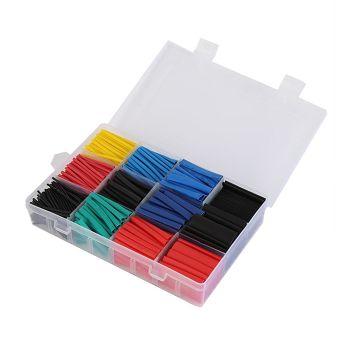 620pcs 16 Sizes 6 Colors Polyolefin Heat Shrink Tube Insulated Tubing Set