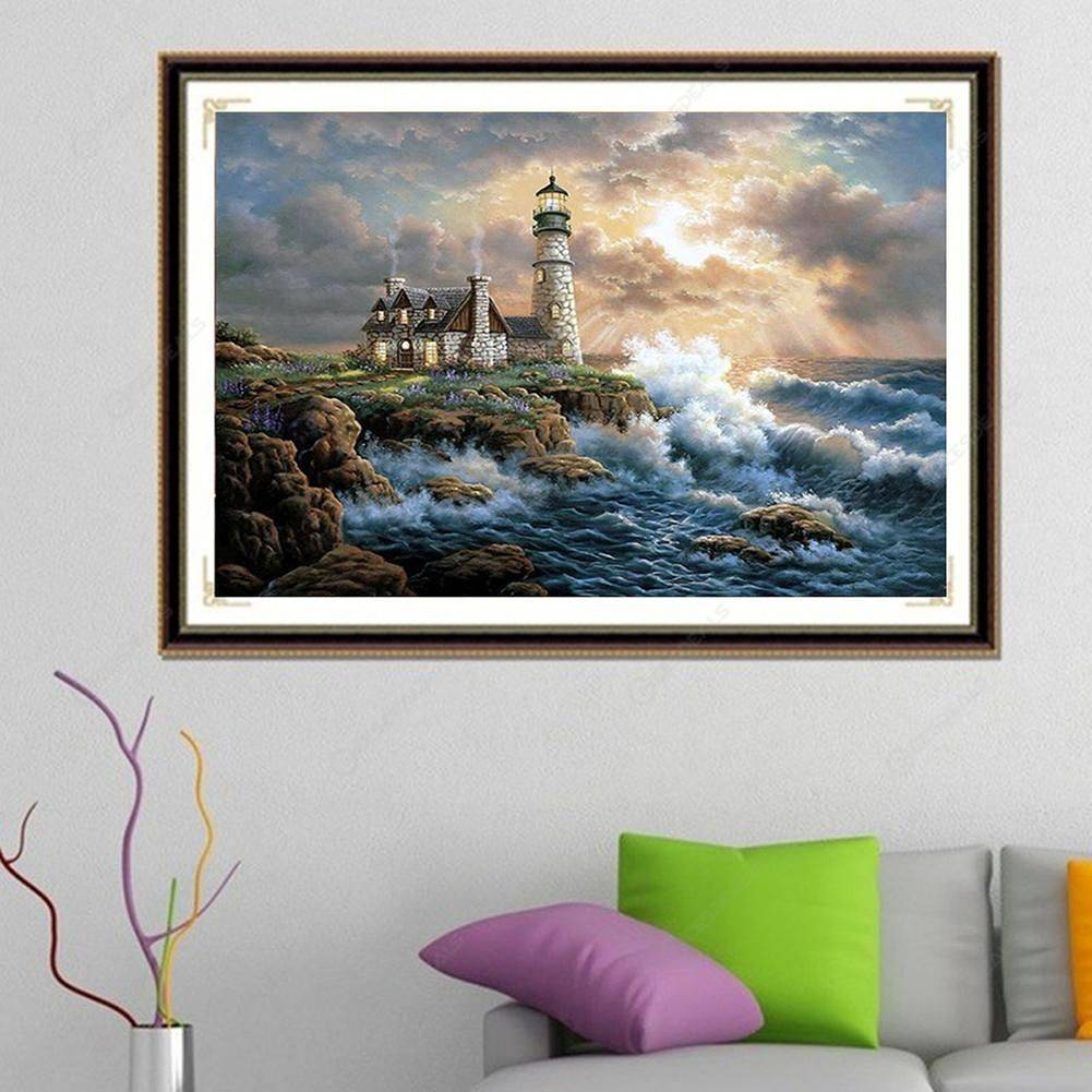 5D DIY Full Drill Diamond Painting Quiet Village Cross Stitch Embroidery