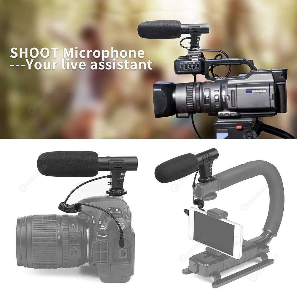 MIC-05 Interview Microphone Camera DV Stereo Video Outdoor PC Recording Mic