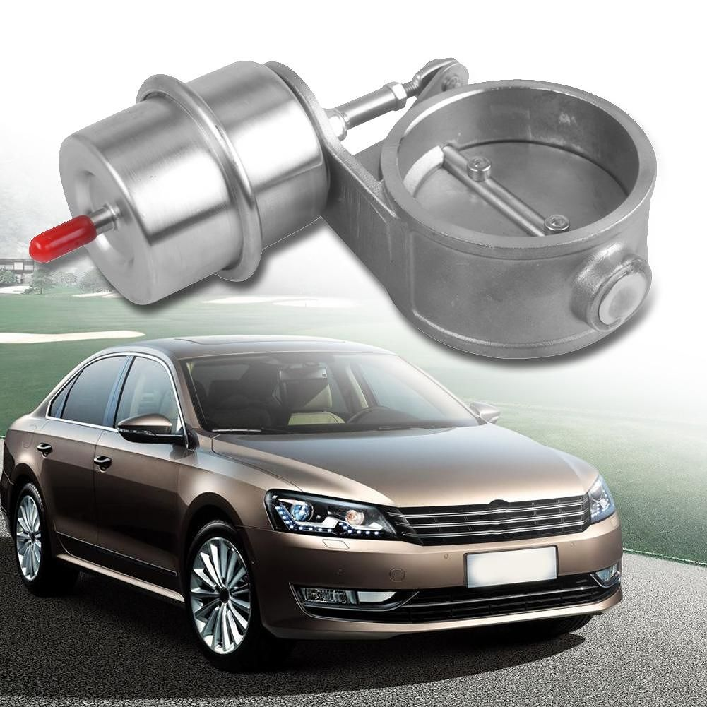 Exhaust Control Valve 2.5 inch Pipe Closed Style Cutout w/ Vacuum Actuator