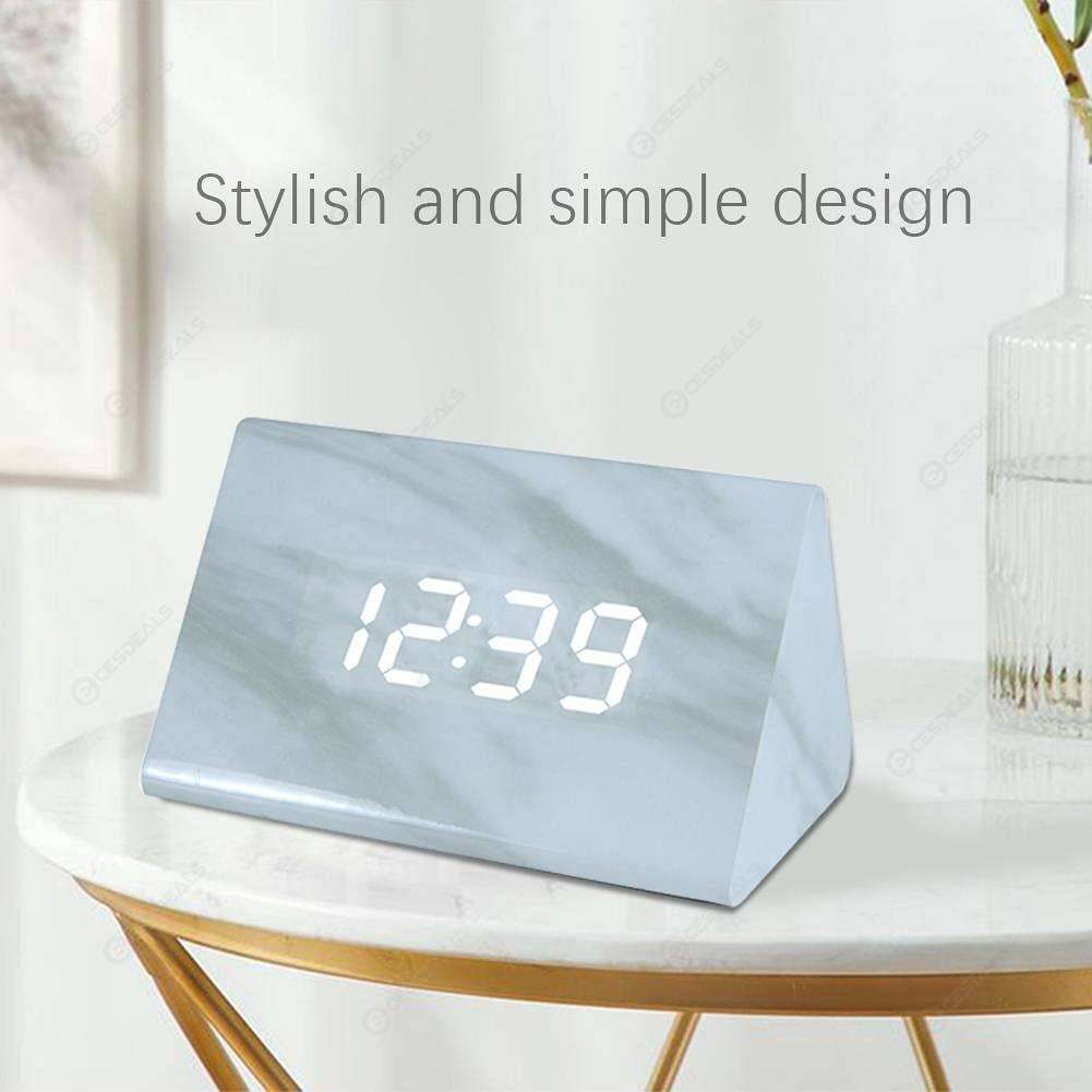 Green Square Marbling Smart Induction Sound Control Alarm Clock Timer Home & Kitchen