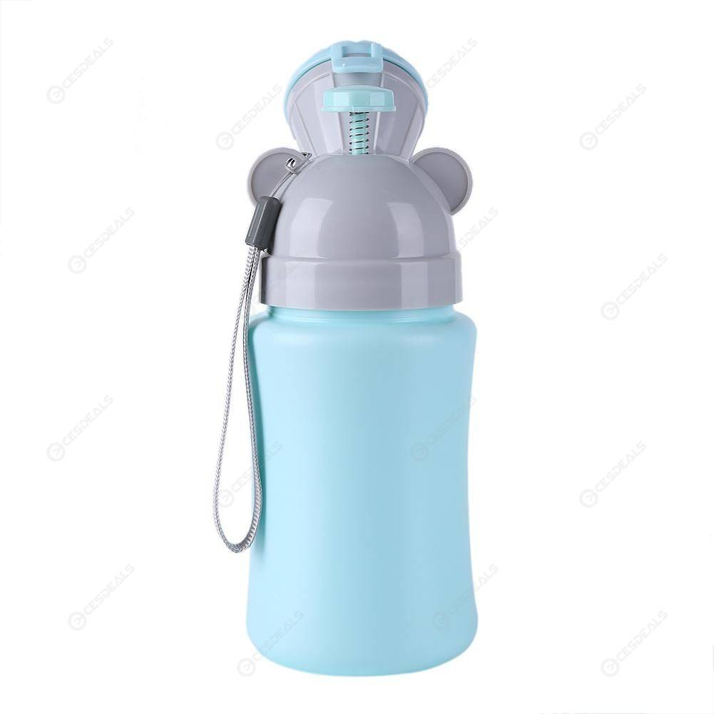 Portable Hygiene Toilet Urinal Travel Anti-leakage Potty (Boy Light Blue)
