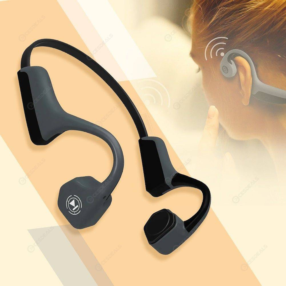 c362fe8d7bc V8 Bone Conduction Earphone Wireless Bluetooth Headset Running Ear Hook ...