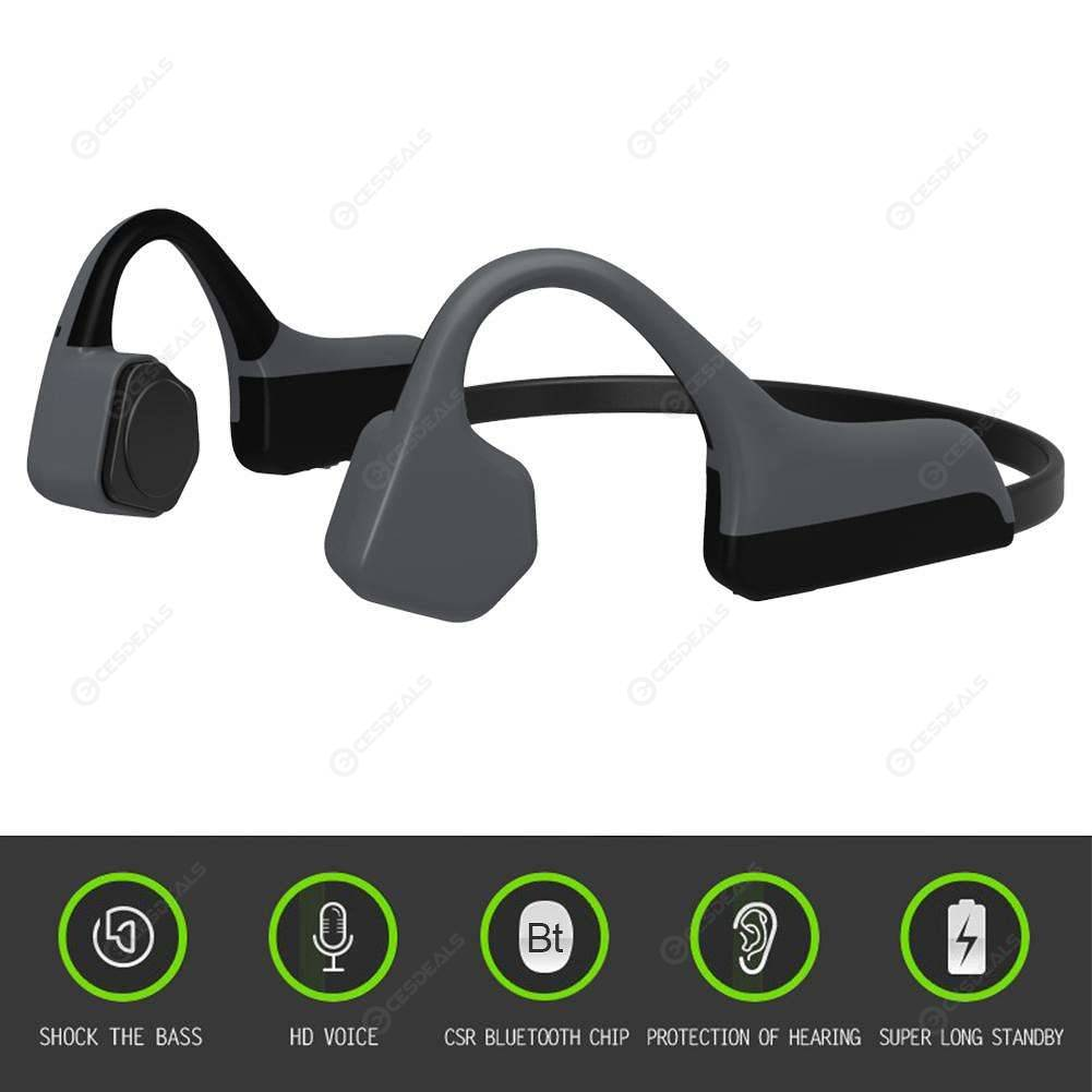 485fbbd07e3 ... V8 Bone Conduction Earphone Wireless Bluetooth Headset Running Ear Hook  ...
