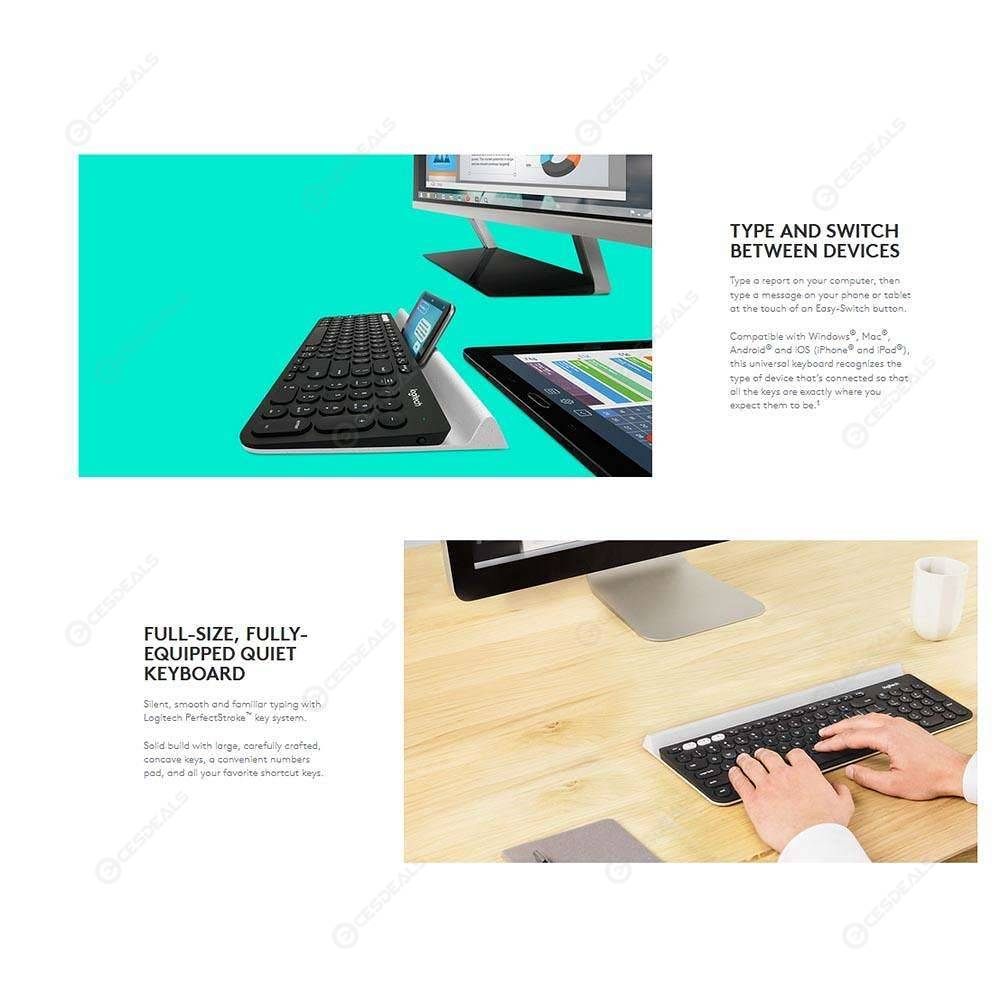 Logitech K780 Multi-Device Wireless Keyboard for PC Computer Phone Tablet