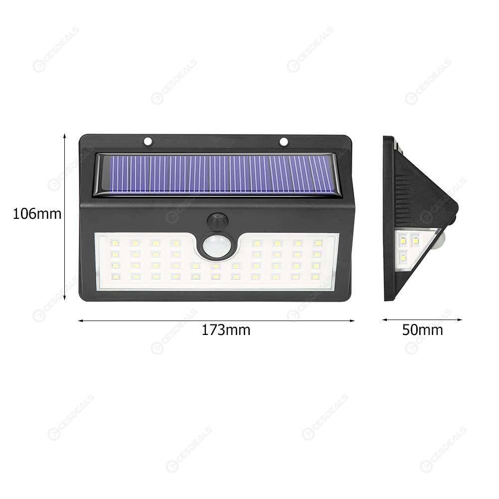 44LED Solar Light Motion Sensor Garden Outdoor Yard IP65 Security Wall Lamp