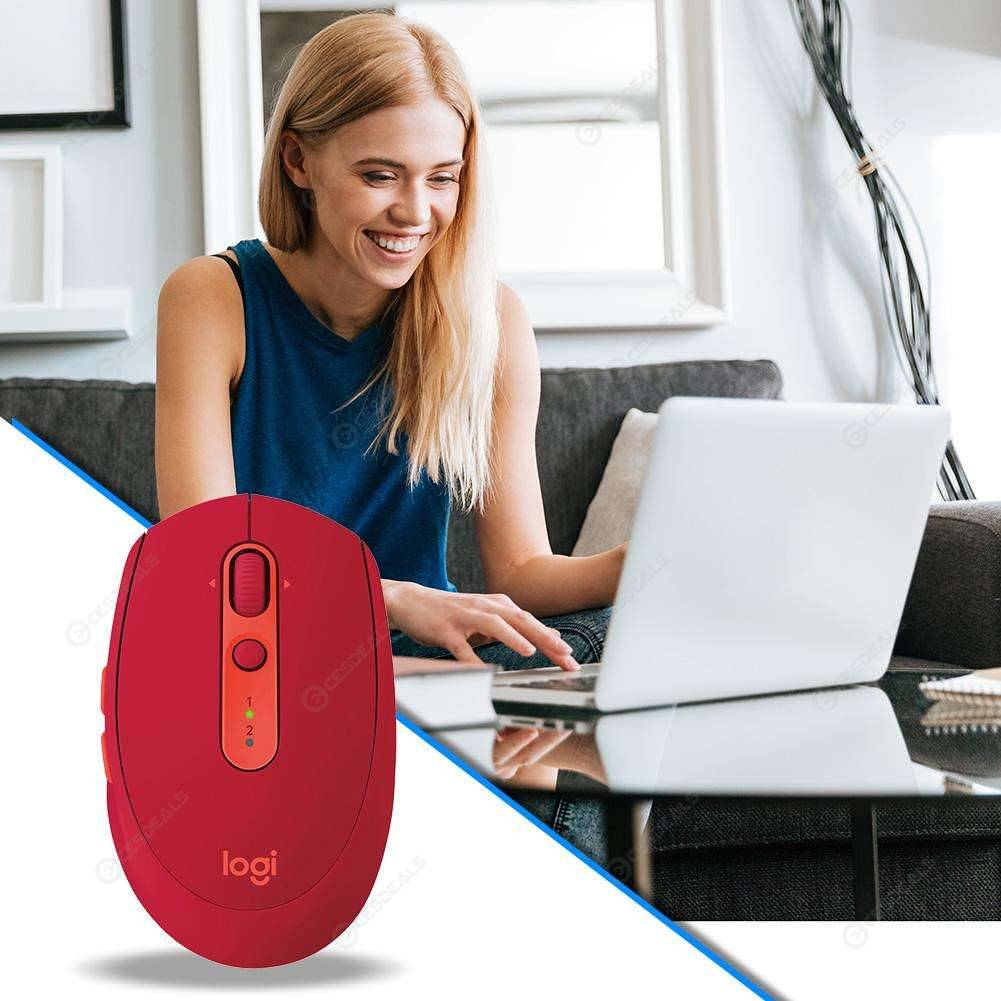 4bf6c1811b5 Logitech M590 Mute Wireless Bluetooth Mouse Optical Computer Mice (Red) ...