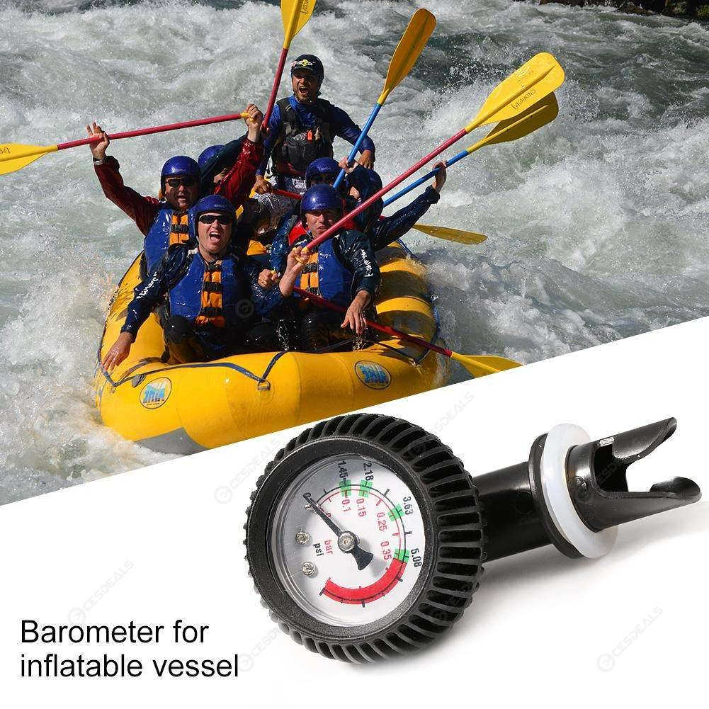 Air Pressure Gauge Air Thermometer Valve Connector for Inflatable Boat Raft