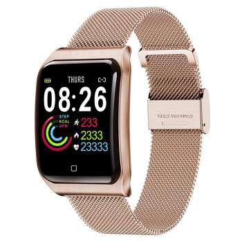 F9 1.3 inch Color Screen IP68 Waterproof Pedometer Smart Watch (Rose Gold)