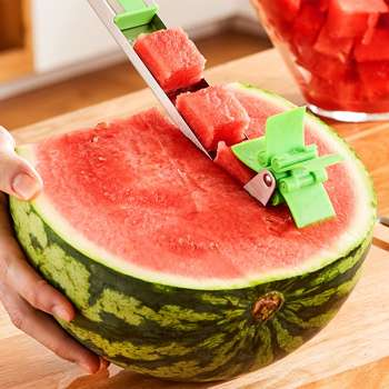 Windmill Shape Stainless Steel Watermelon Slicer Fast Cutter Cutting Tools