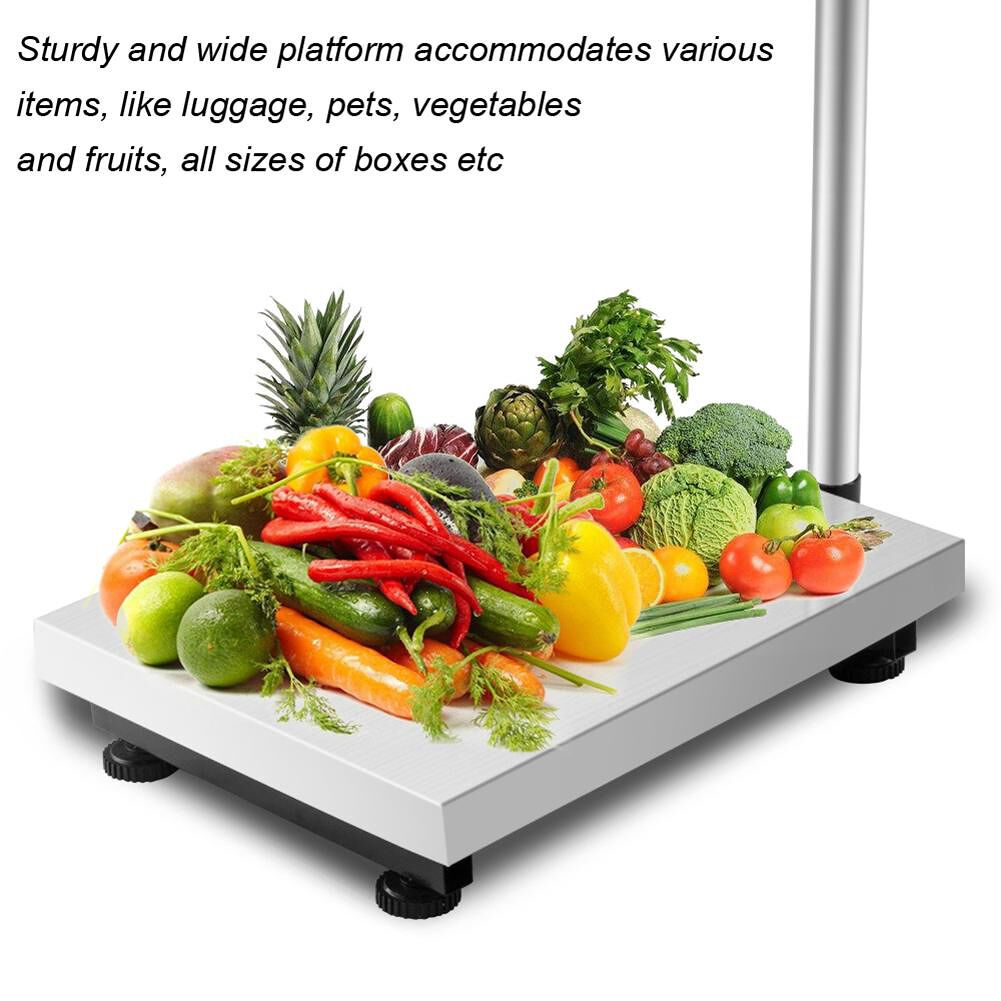 Leadzm 300KG/661lbs LCD Display Personal Floor Postal Platform Scale
