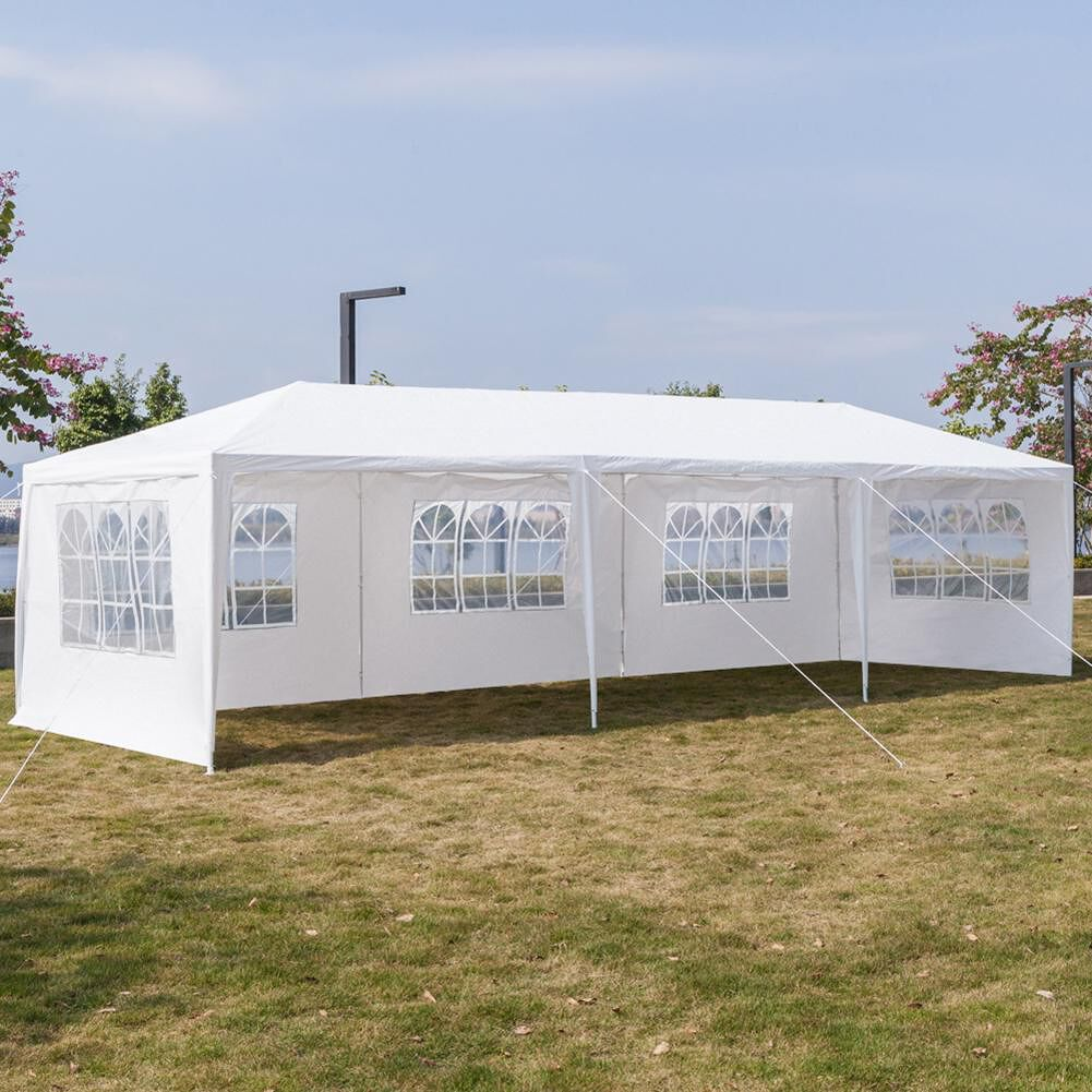 3x9m Waterproof White Large Parking Shed Wedding Party Outdoor Camping Tent