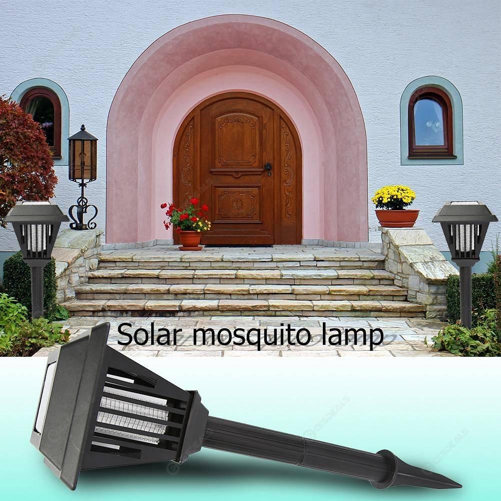 2 DEL 0.4 W Jardin Pelouse Solar Moustique Tueur lumière Insecte nuisible Bug 100 mAh Zapper