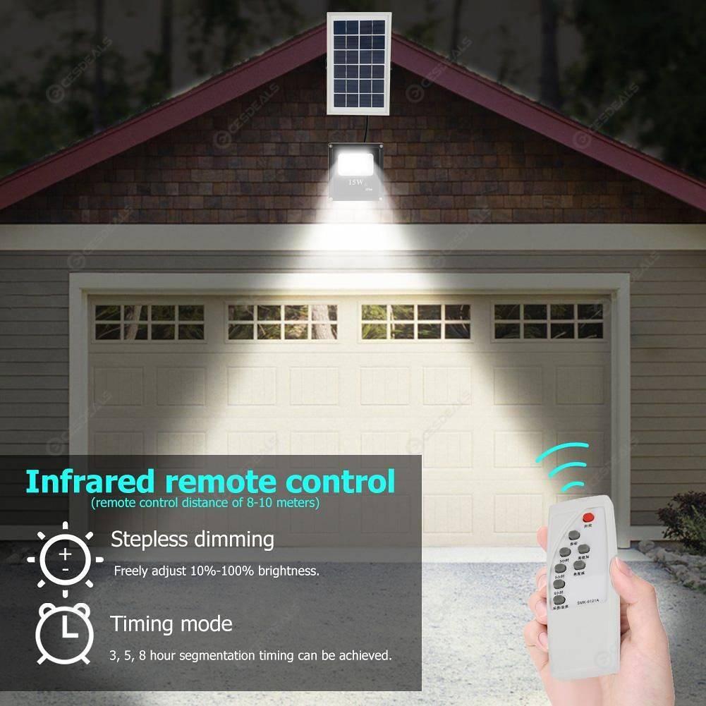 41LED Floodlight 15W Solar Wall Lights Outdoor Spotlight Garden Decor Lamp