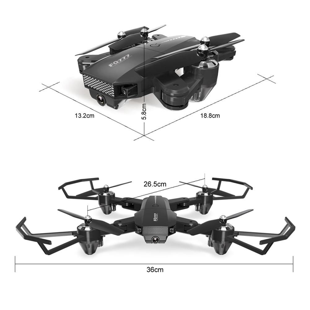 Mini RC Drone Helicopter Adult Kids Aircraft Toy (Black)(300 Thousand WiFi)